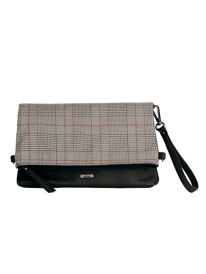 Rieker Listová kabelka s více možnostmi nošení, černá/multi