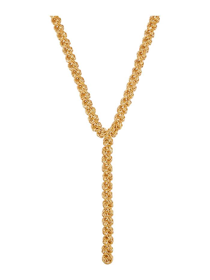 Diemer Gold Y-Rosencollier in Gelbgold 585, Gelbgoldfarben