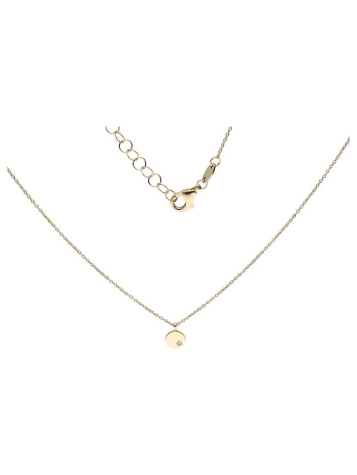Kette rund mit Diamant, Gold 585