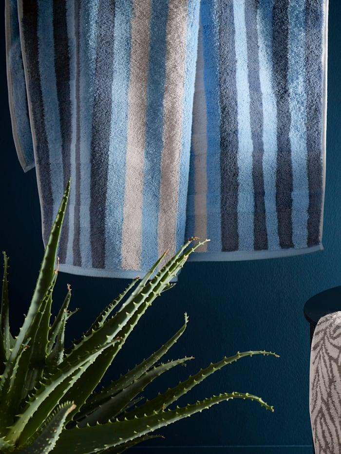 Cawö Frottierserie 'Noblesse Seasons Streifen', Blau