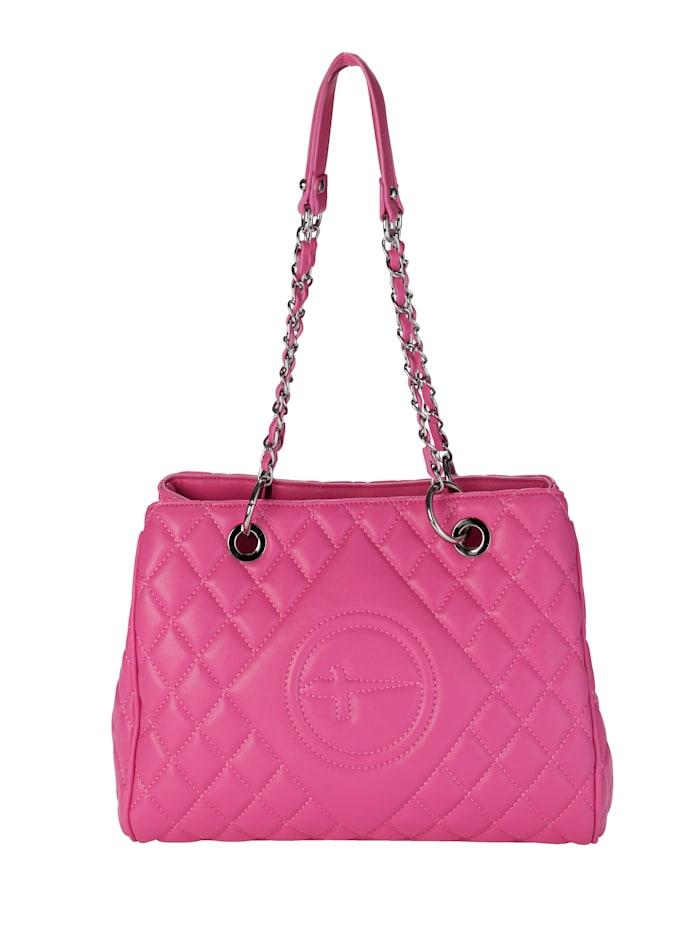 Tamaris Väska med kviltat mönster, cerise
