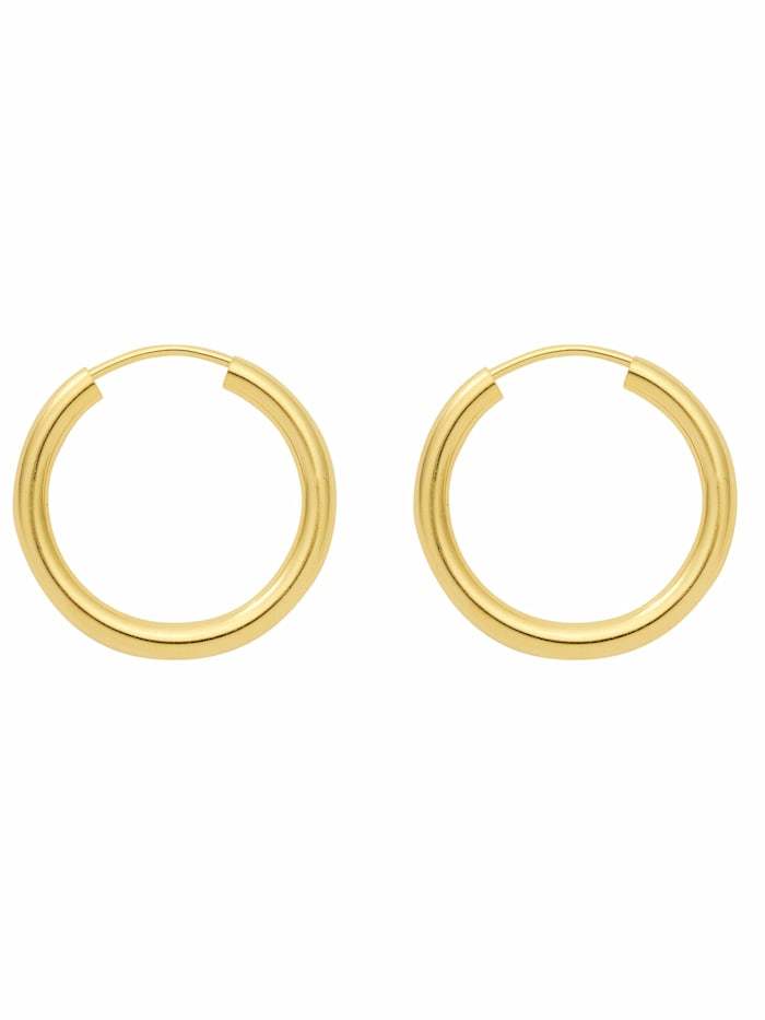 1001 Diamonds 1001 Diamonds Damen Silberschmuck 925 Silber Ohrringe / Creolen Ø 38 mm, vergoldet