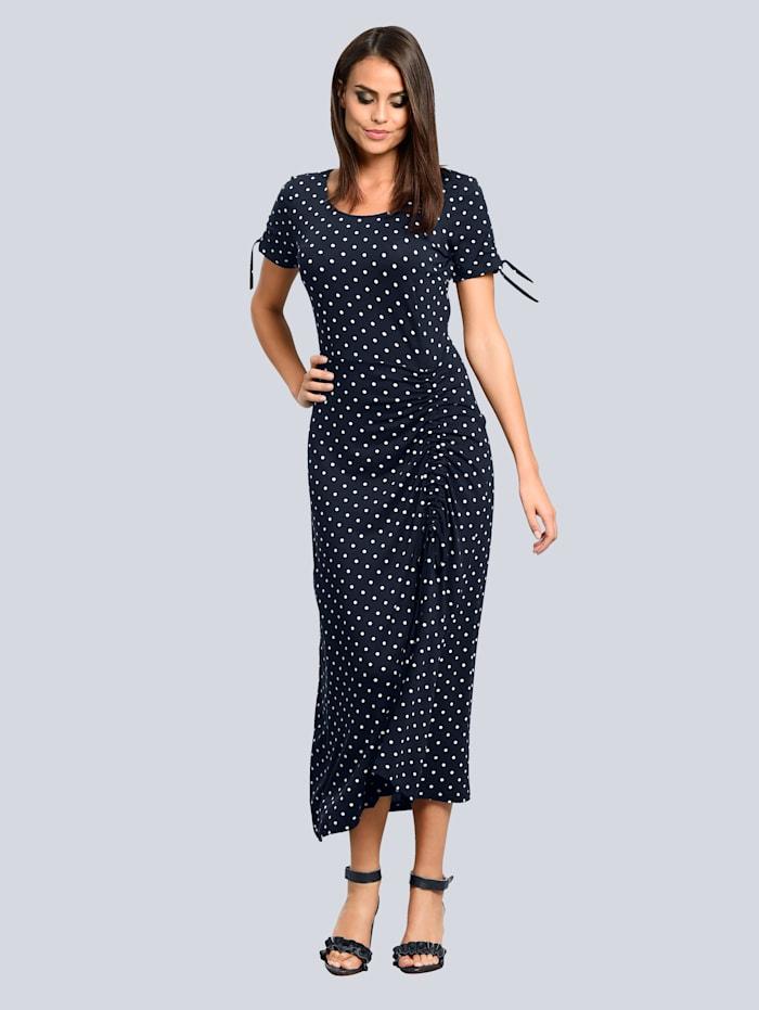 Jerseykleid mit femininer Raffung vorne