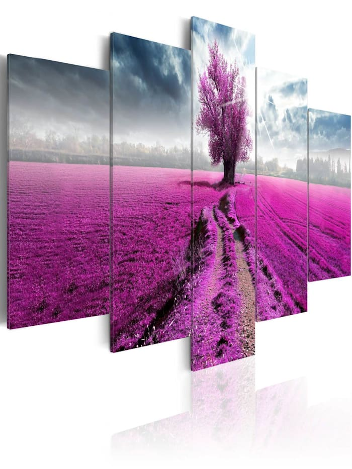 artgeist Wandbild Purple Land, Blau,Violett,Weiß