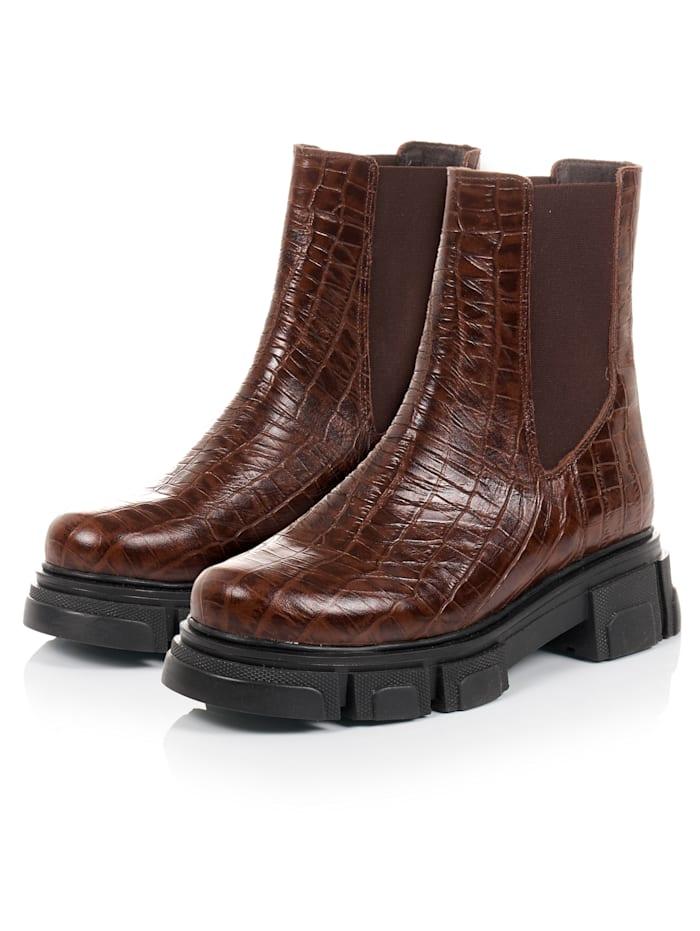 REKEN MAAR Chelsea-Boots, Braun