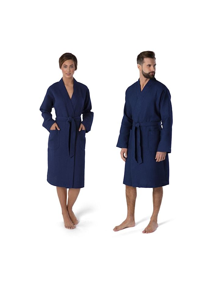 Möve Homewear Kimono , 100% Baumwolle , Made in Germany, deep sea