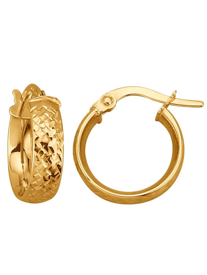 KLiNGEL Creolen in Gold, Gelb