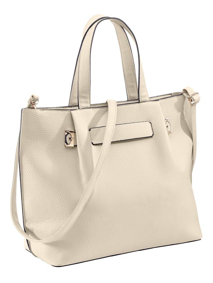Handväska, vit