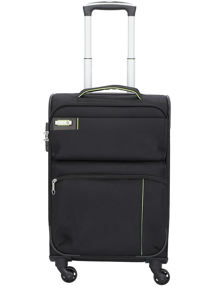 D&N Travel Line 6754 4-Rollen Kabinentrolley 55 cm, schwarz
