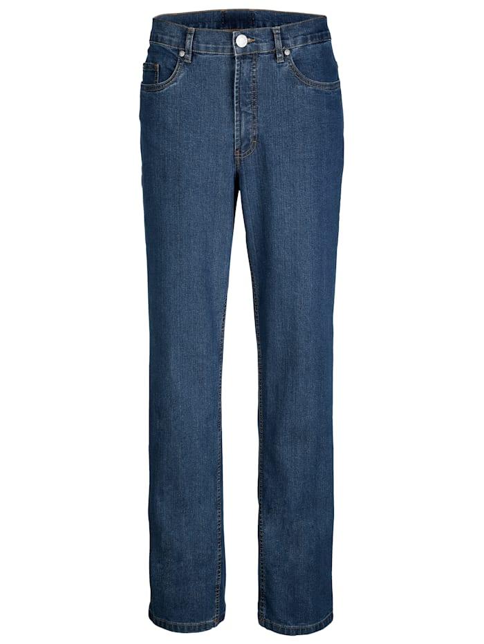 Roger Kent 5-Pocket Jeans mit Gürtelschlaufen, Light blue