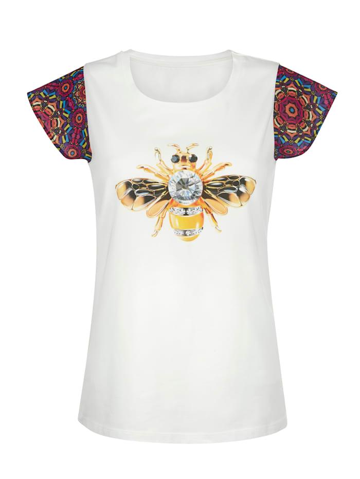 Shirt mit bedruckten Ärmeln