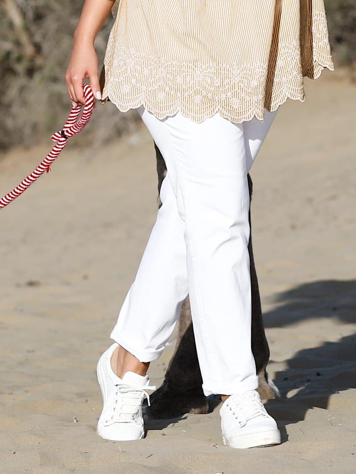 Janet & Joyce Jeans Slim Fit, Weiß