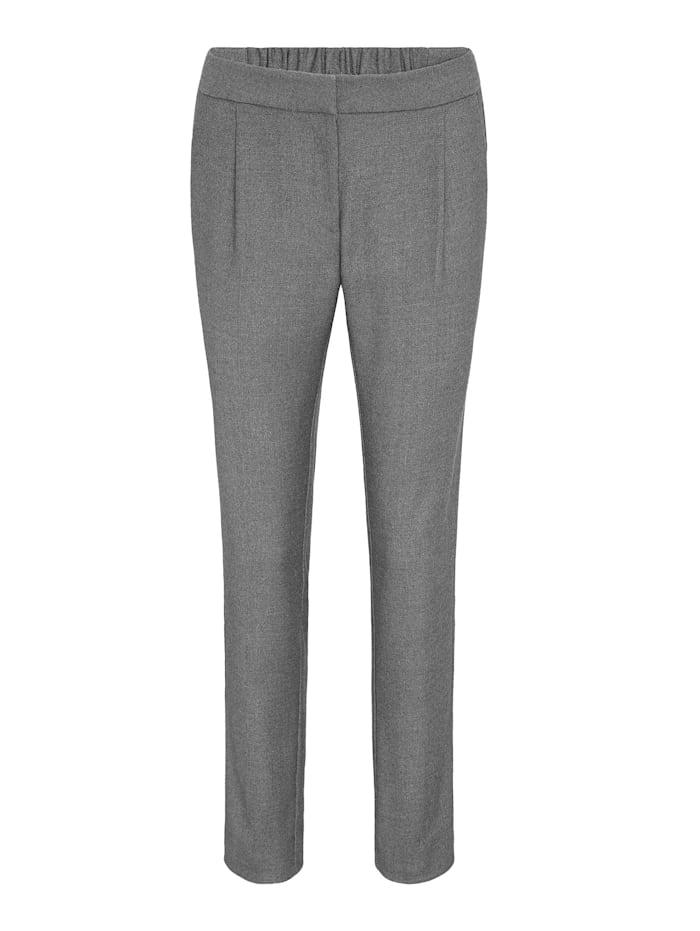 APART Hose mit Bügelfalten, grau-melange