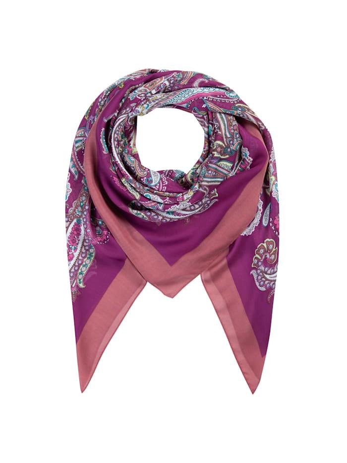 Codello Paisley-Tuch aus Viskose, dark violet