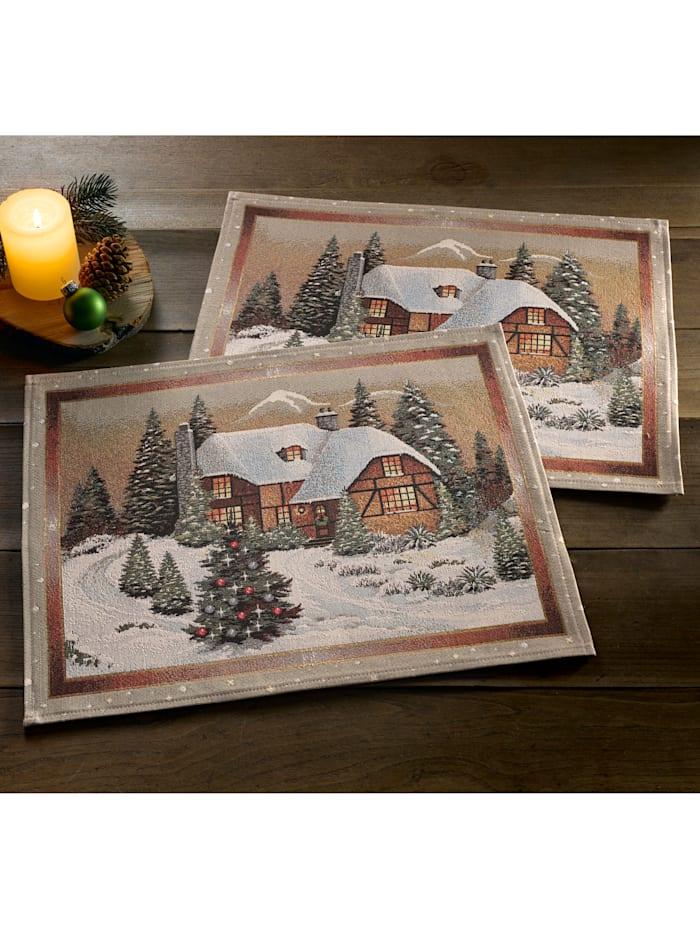 Linge de table 'Paysage d'hiver'