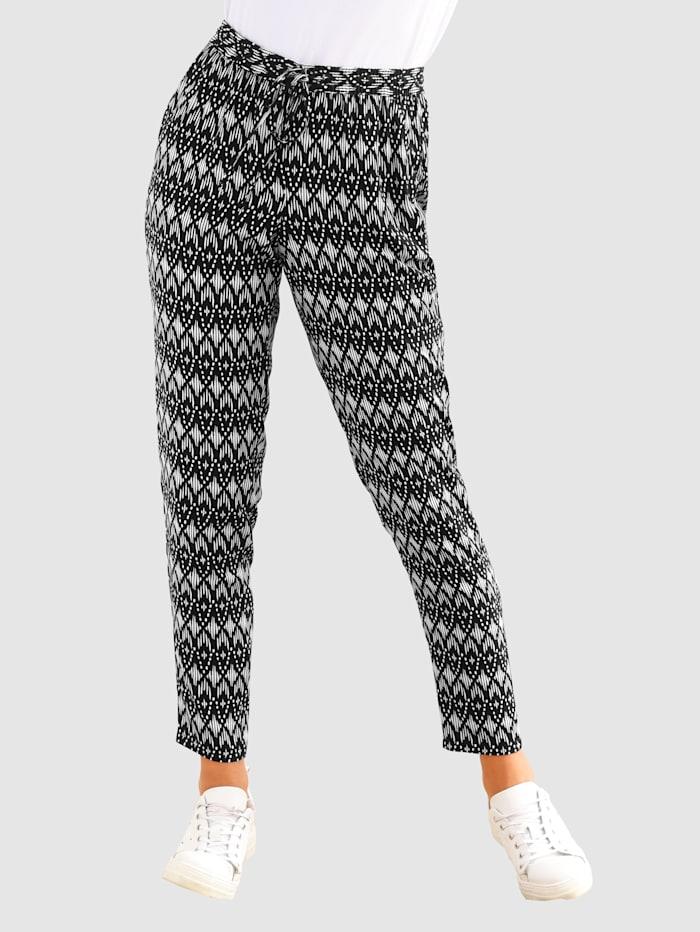 basically you 7/8-broek in smal model, Zwart