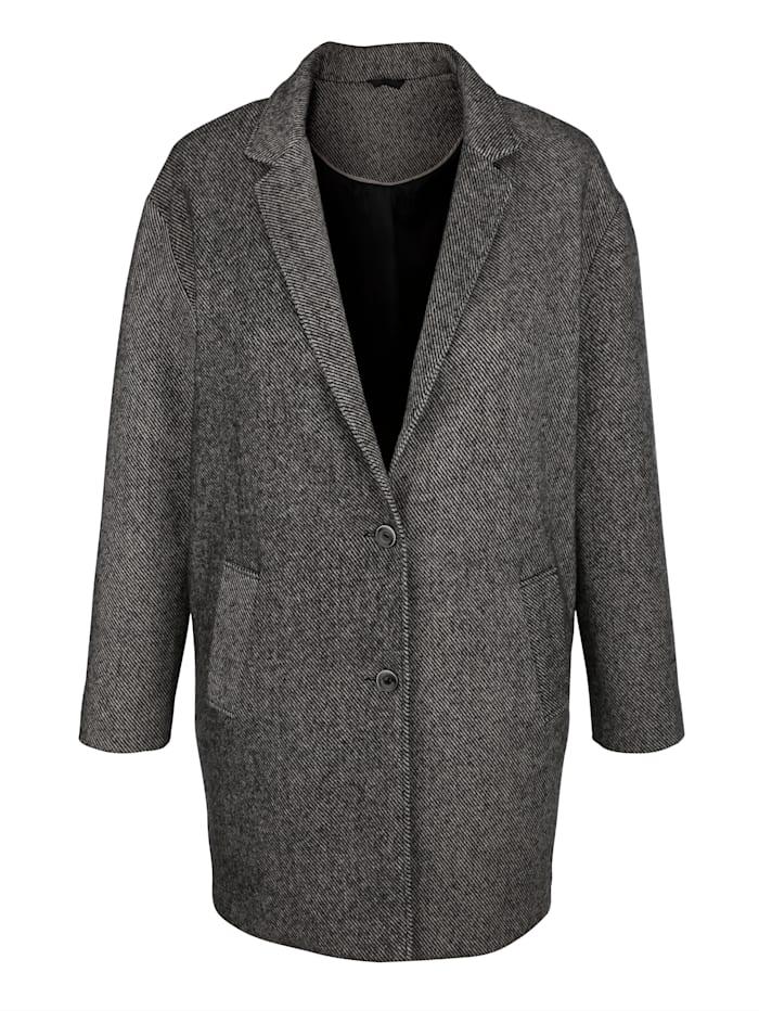 Manteau à motif rayé