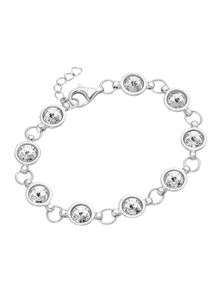 Smart Jewel Armband Swarovski Steine, Silber 925, Weiss