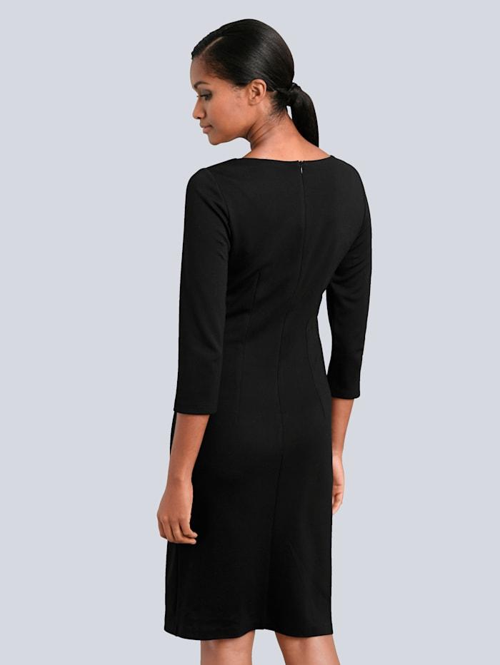Kleid mit Kontrastblenden