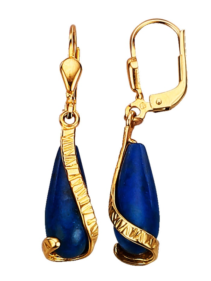 KLiNGEL Ohrringe mit Lapislazuli, Blau