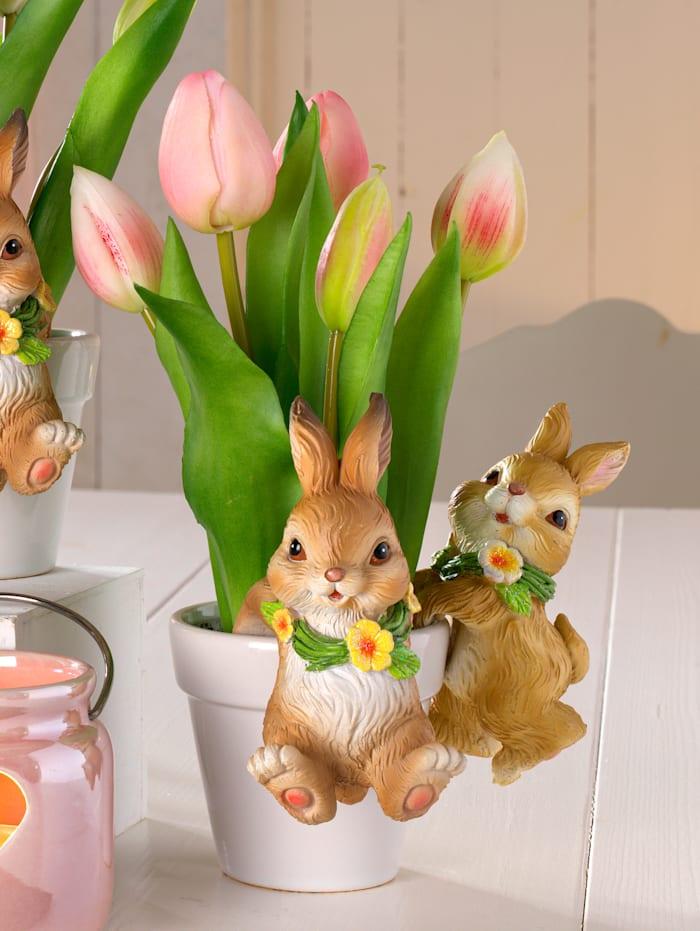Tulipes dans un pot en céramique