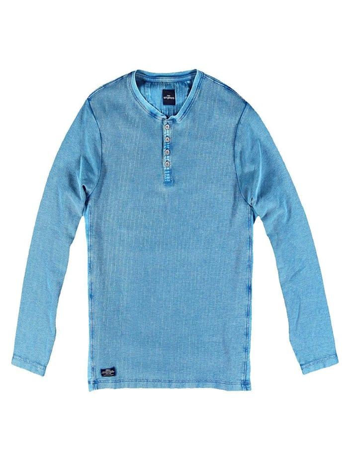 Engbers Henley Shirt, Royalblau