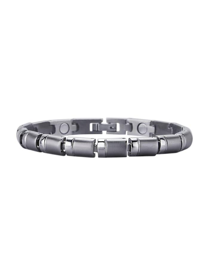 Magnetic Balance Armband, Silberfarben