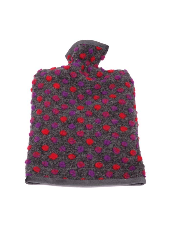 Linke Licardo Wärmflaschenbezug Wolle Noppen 20/30 cm, anthrazit