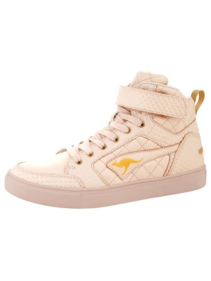 KangaROOS High-Sneaker mit variablem Klettriegel, Rosé