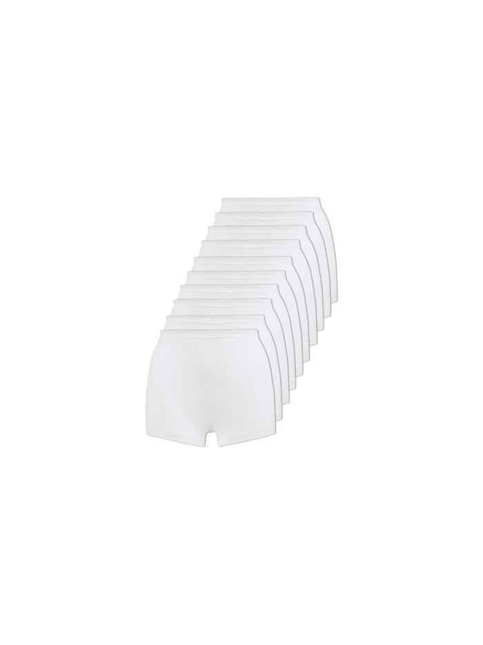 Naturana 10er Sparpack Damen Pagenschlüpfer 10er Pack, Weiss