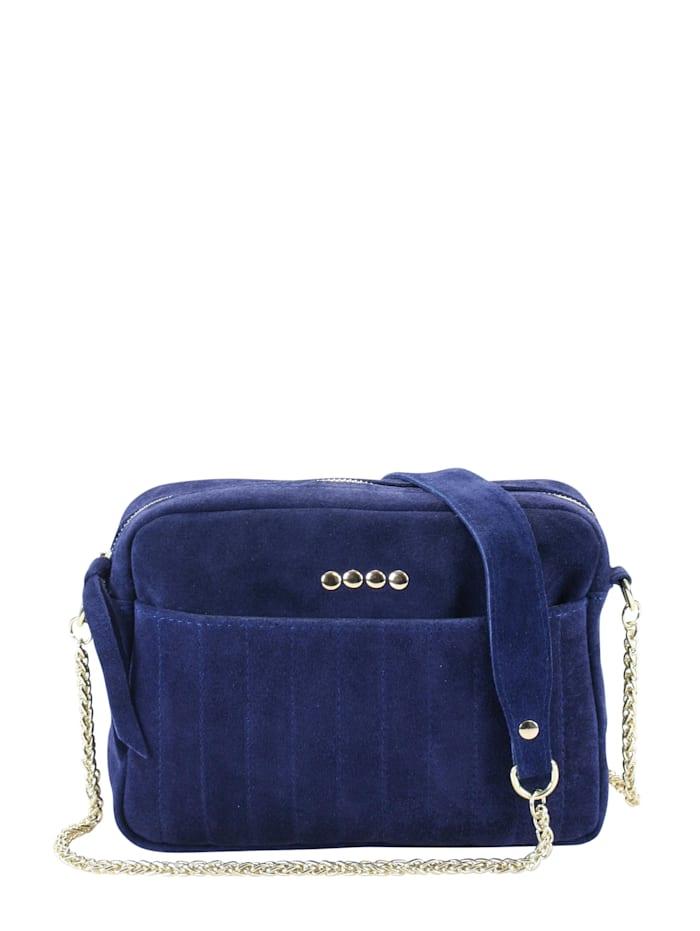 Collezione Alessandro Umhängetasche Quattro mit vielen dekorativen Highlights, blau