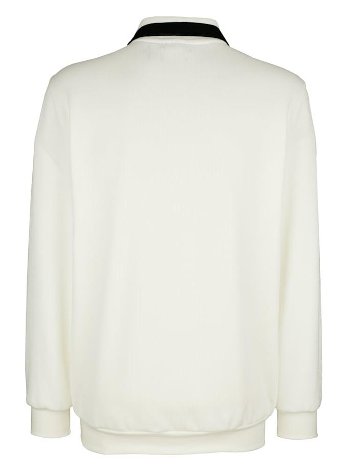 Sweatshirt mit Kontrastverarbeitung
