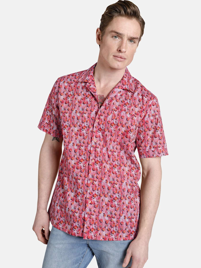 Shirtmaster Shirtmaster Kurzarmhemd squeezeit, orange