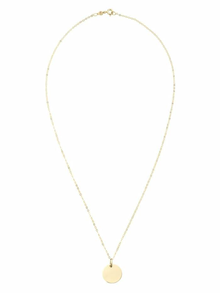 amor Kette mit Anhänger Unisex, Gold 585,, Gold