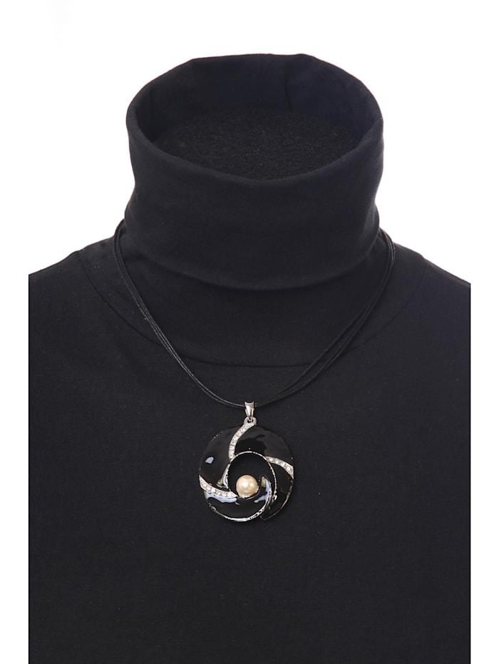 Kurze Kette Muriel mit Perle aus Kunstharz