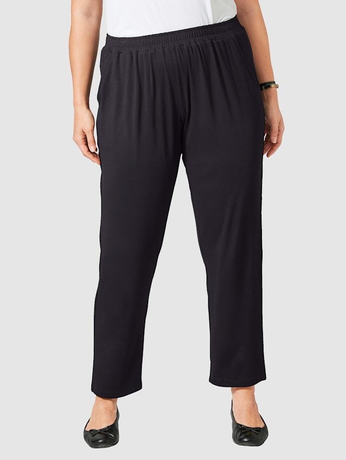 Janet & Joyce Jersey-Hose mit elastischem Bund, Schwarz