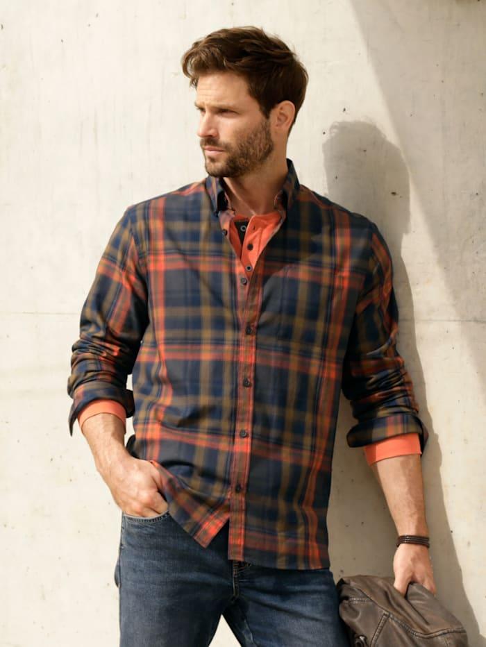 BABISTA Hemd aus feiner Twill-Qualität, Marineblau/Orange