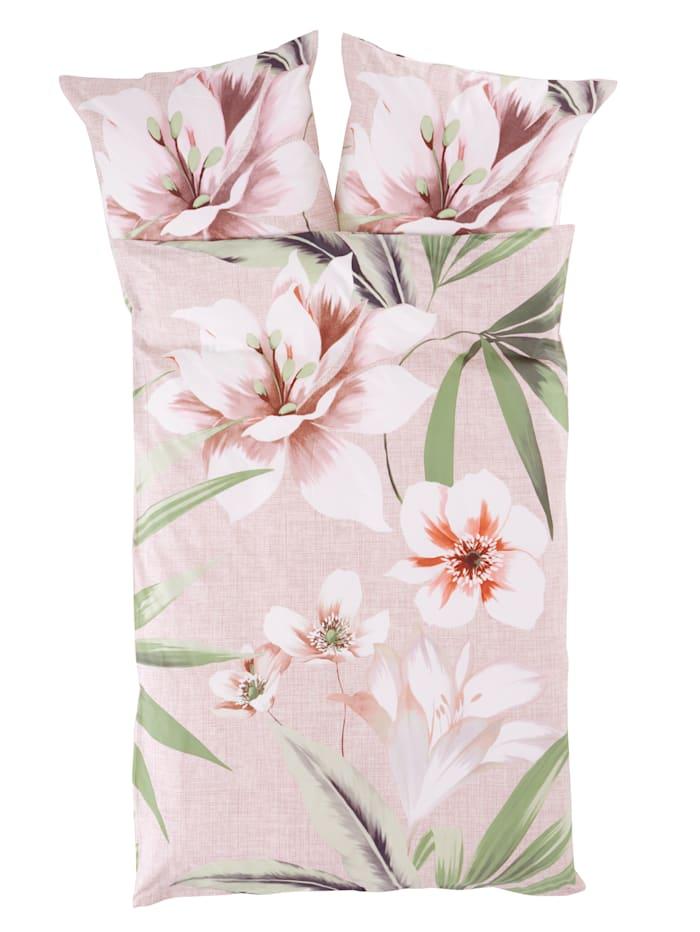 Webschatz 2-d. renforce posteľná bielizeň Nicola, ružová