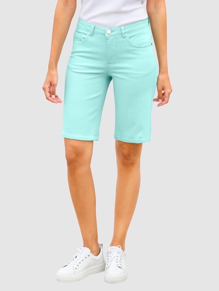 Laura Kent Bermuda en denim, Turquoise
