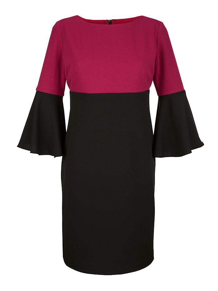 Kleid in zweifarbiger Optik