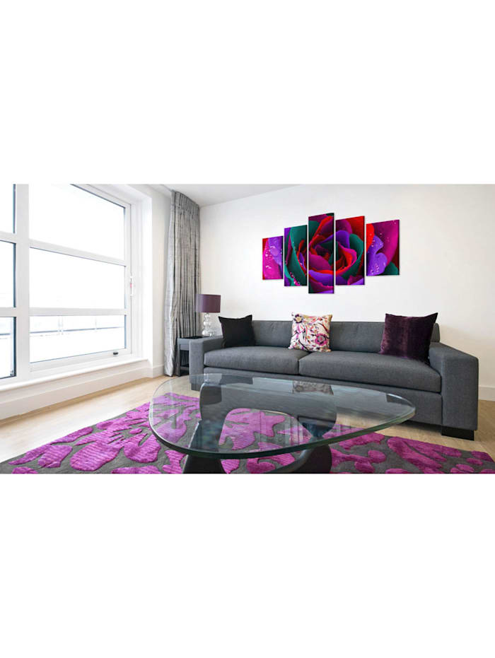 Wandbild Multicoloured rose