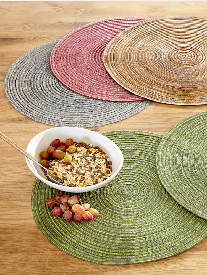 Peyer-Syntex Set van 2 placemats Pisa, aubergine