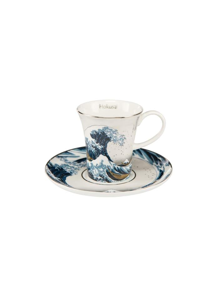 Goebel Goebel Espressotasse Katsushika Hokusai - Die Welle - Silber, Hokusai - Welle