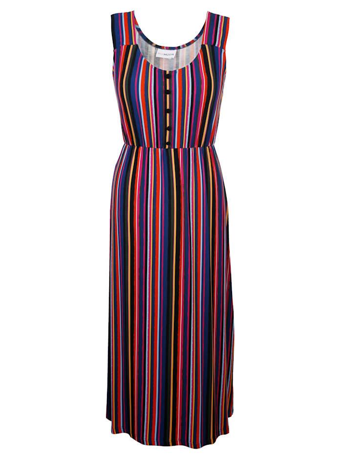Jerseykleid mit buntem Streifendruck