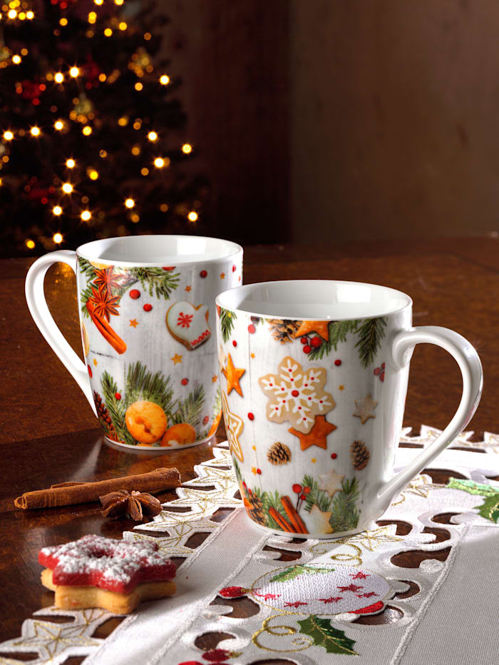 Ritzenhof & Breker 2tlg. Kaffeebecherset 'Lebkuchen', Multicolor