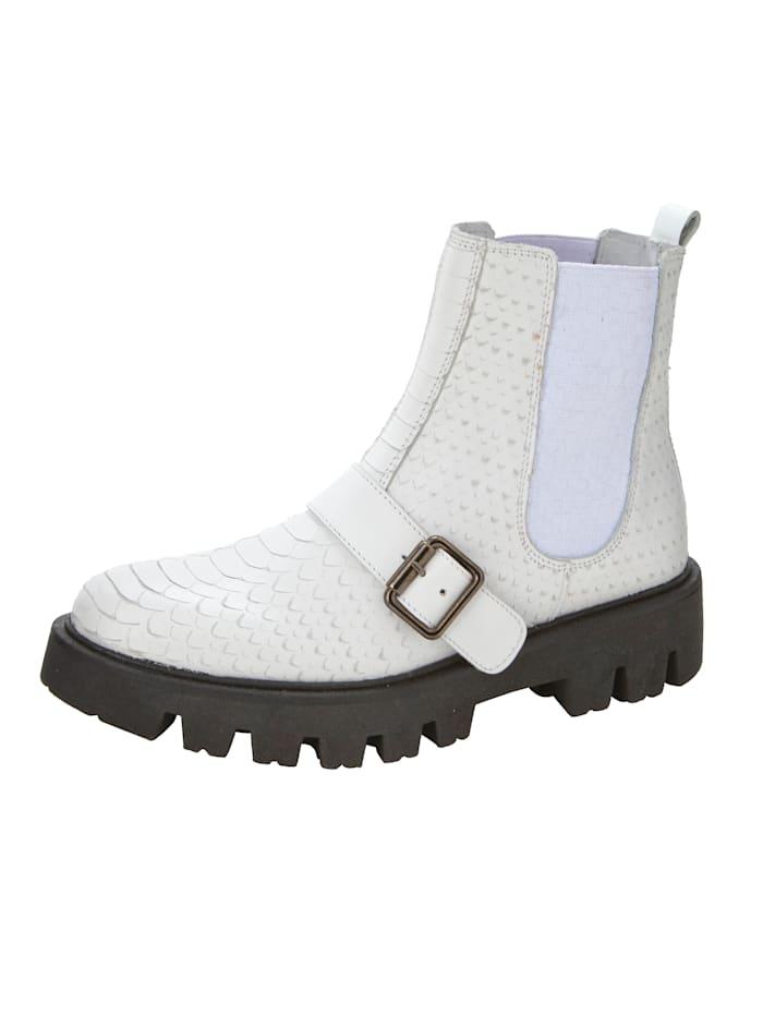 ROCKGEWITTER Chelsea boot met elastische inzetten opzij, Wit