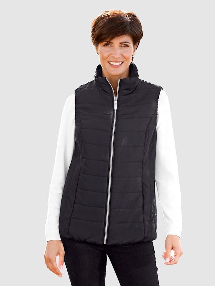 Paola Bodywarmer met in de naad weggewerkte zakken, Zwart