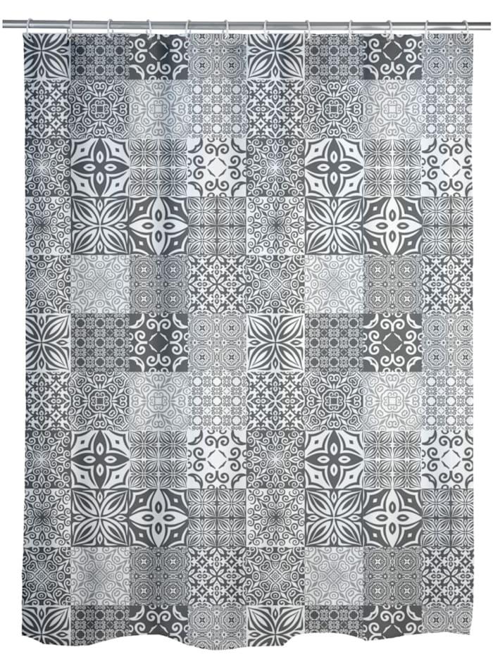 Wenko Duschvorhang Portugal, Textil (Polyester), 180 x 200 cm, waschbar, Mehrfarbig
