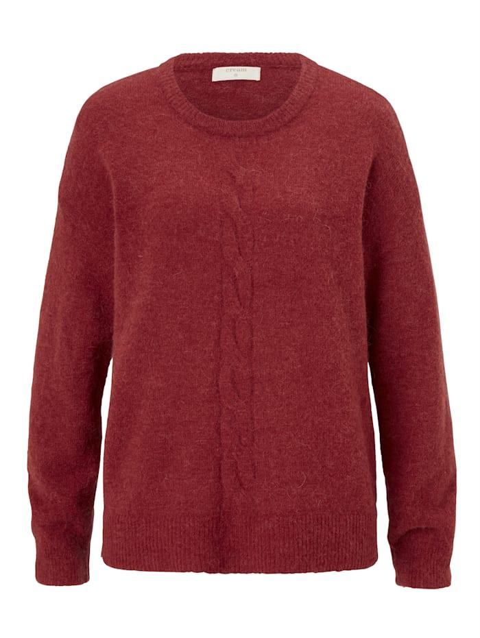 Cream Pullover, Rot