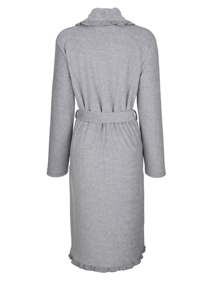Dressing gown in nicky velour fabric